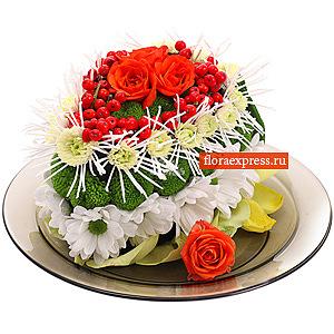 Цветочный десерт