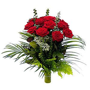Рубин (15 роз)