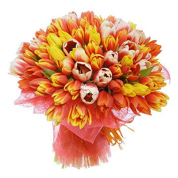 Букет Рыжие тюльпаны
