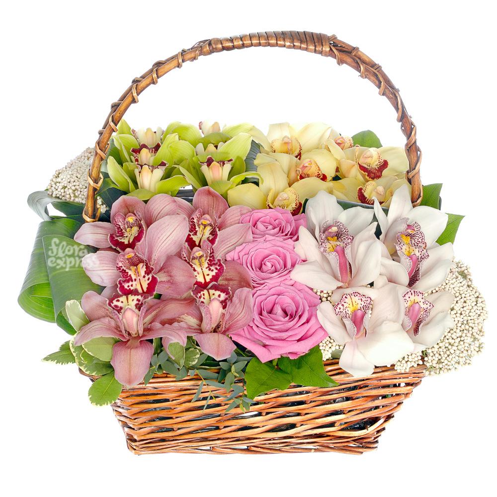 Корзина «Fleurs de l'amour» от Floraexpress