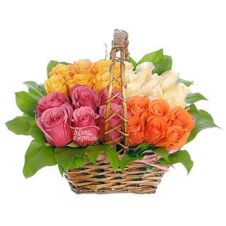 Букет Корзина «Магия роз»
