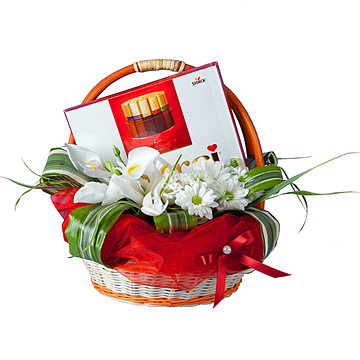 Букет Корзина с конфетами