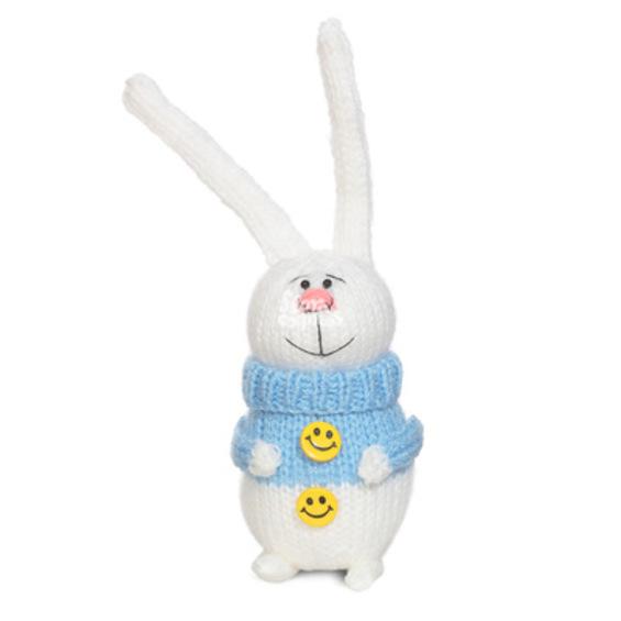 Вязаный заяц handmade