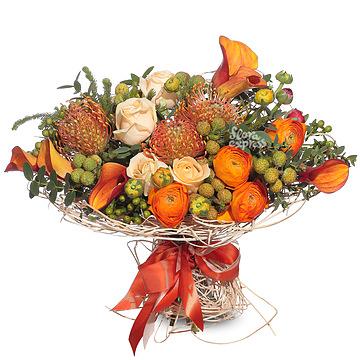 Букет Оранжевый этюд