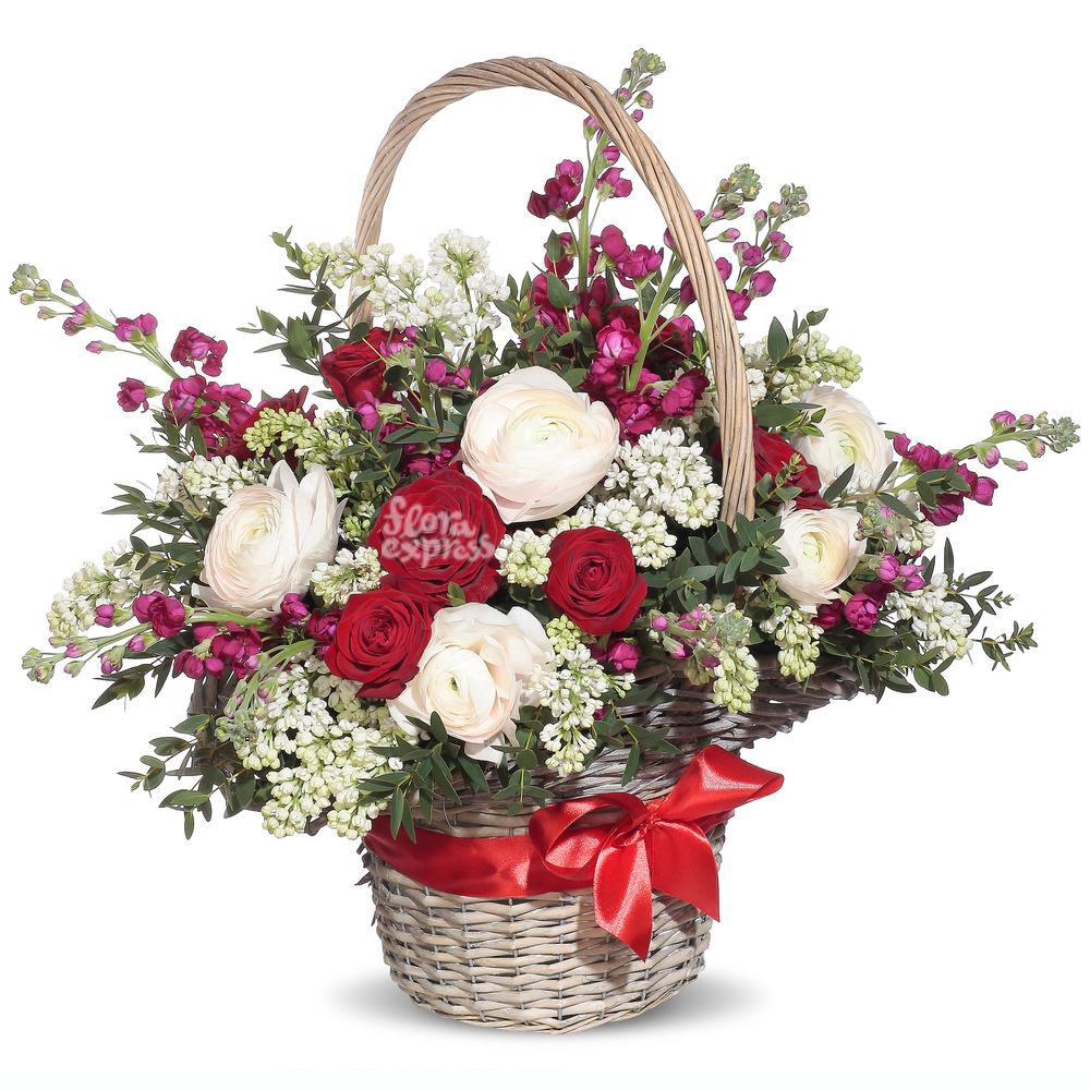 Корзина «Любовь и Верность» от Floraexpress