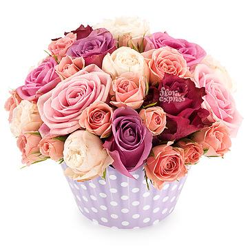 Букет Розовое счастье