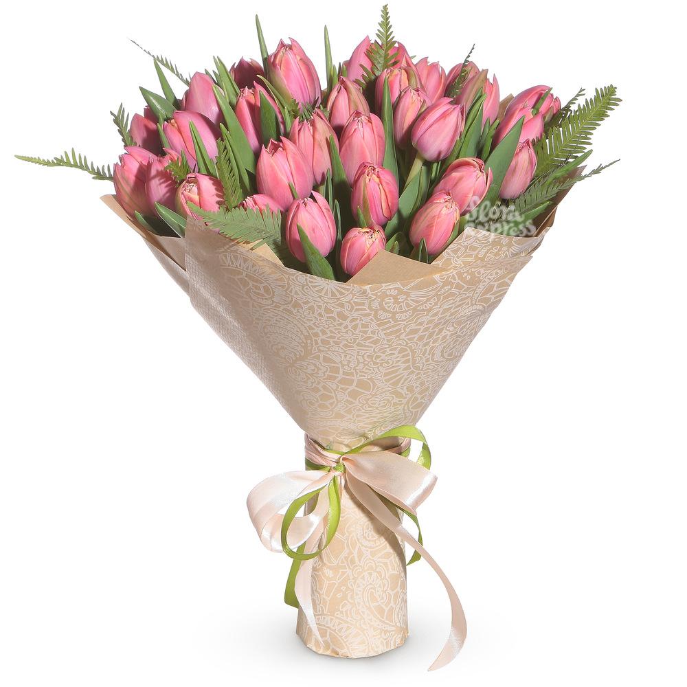 Розовые тюльпаны от Floraexpress