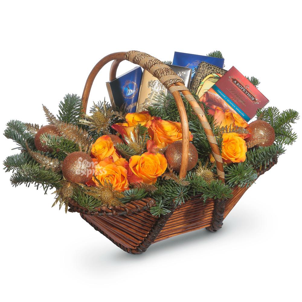 «Flora Express» Корзина «Сладкий праздник»