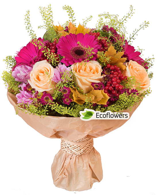 Фото букета: Герберы и розы