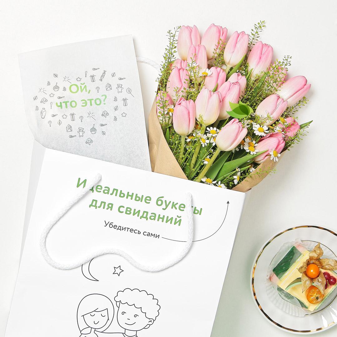 Фото букета: Нежно-розовые тюльпаны