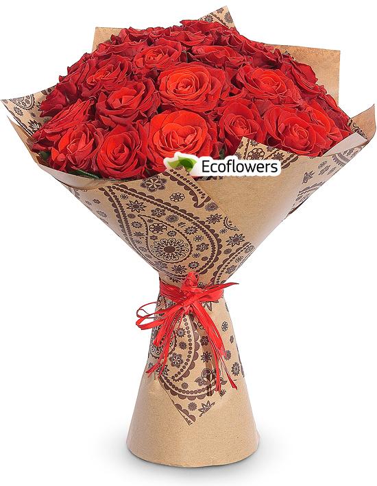Фото букета: Красные розы