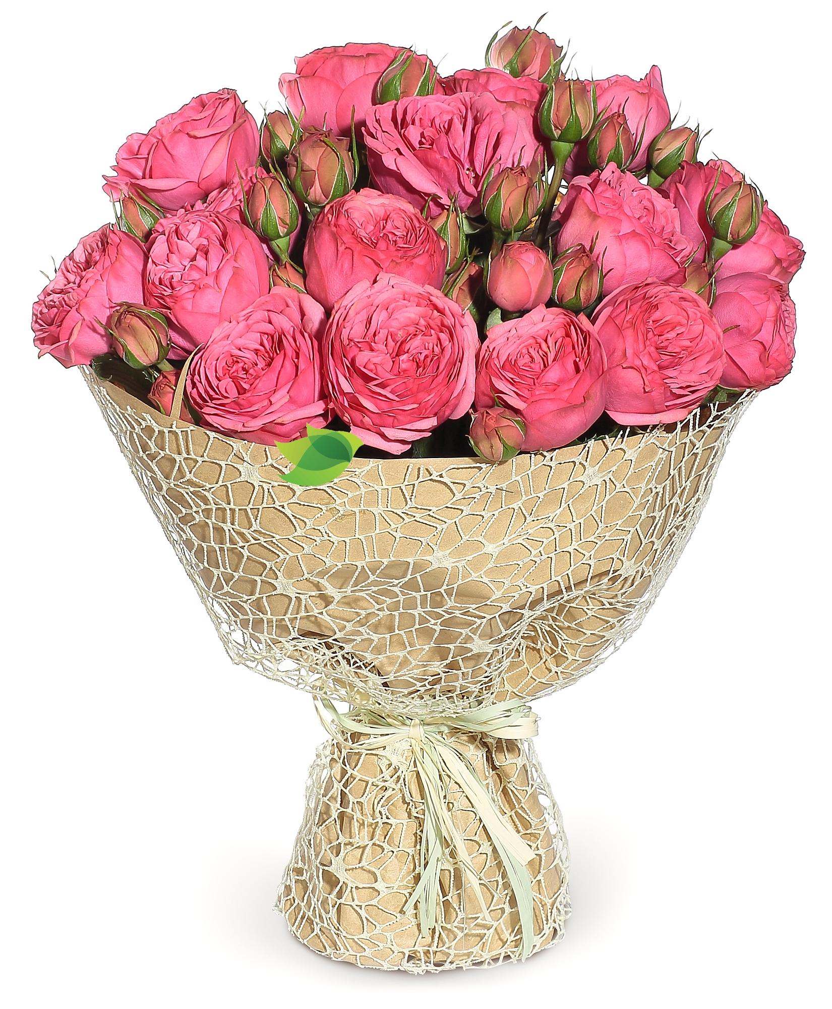 Фото букета: Кустовые розы «Pink piano»