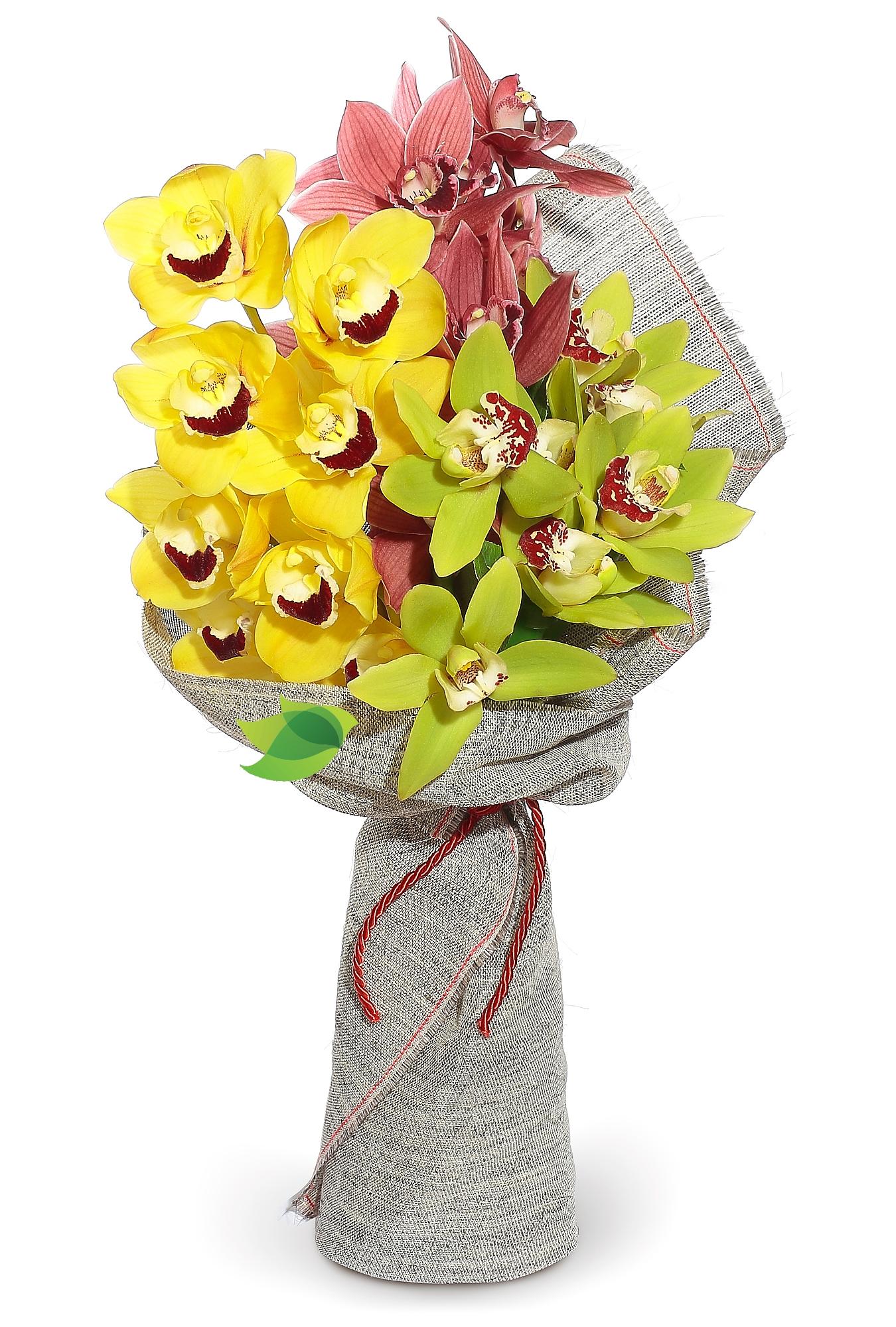 Фото букета: Пленительные орхидеи