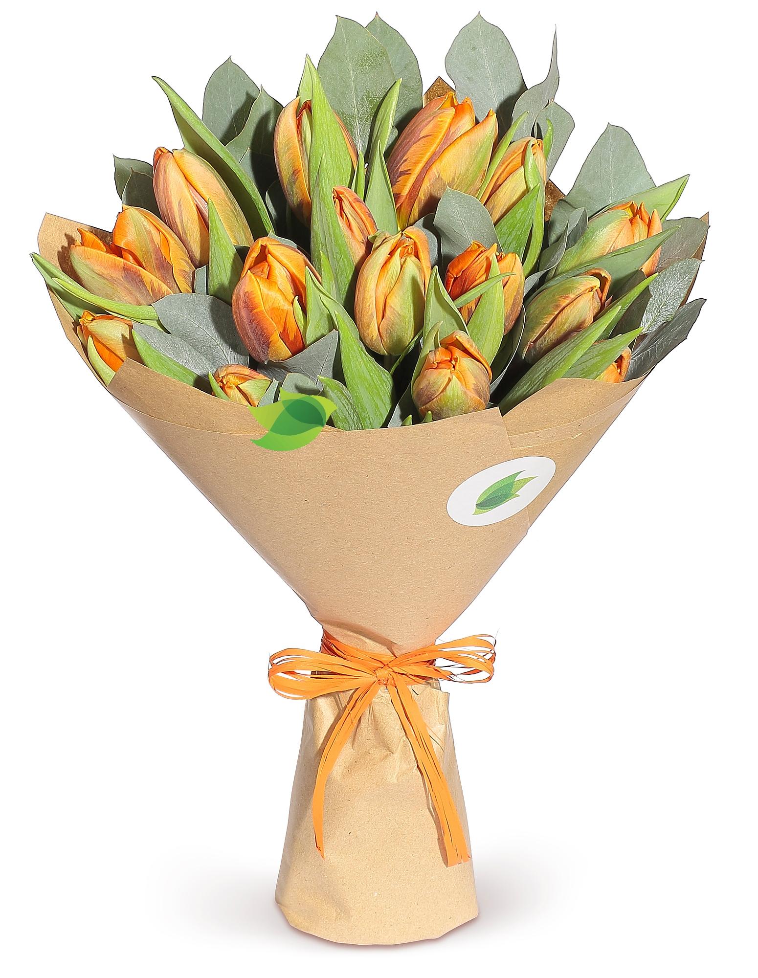 Фото букета: Тюльпаны Оранж
