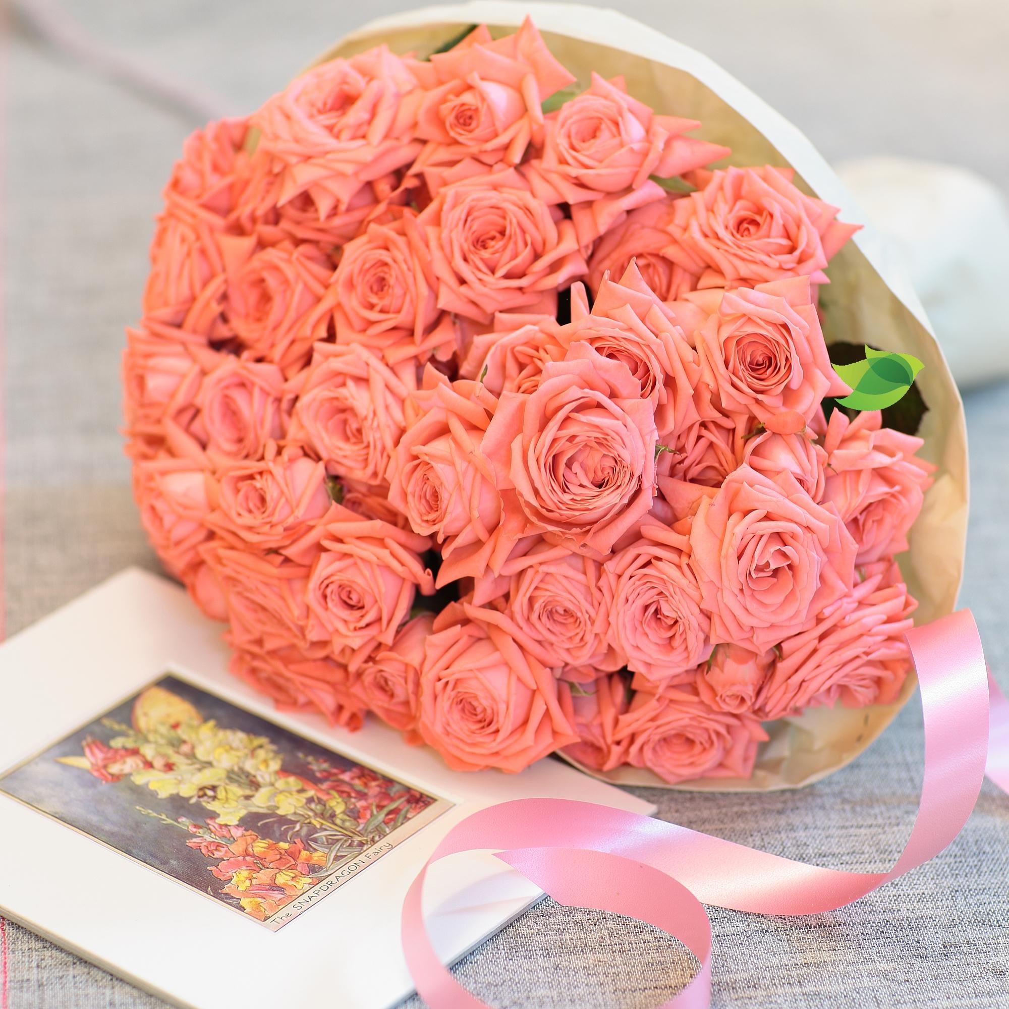 Фото букета: Большой букет роз