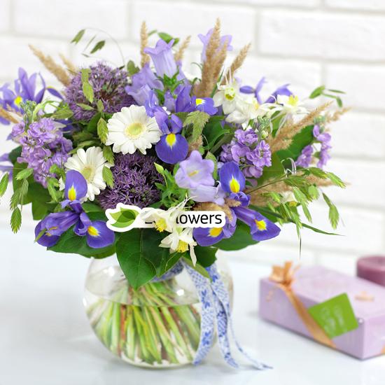 Букеты с колокольчиками доставкой купить цветы глоксинии