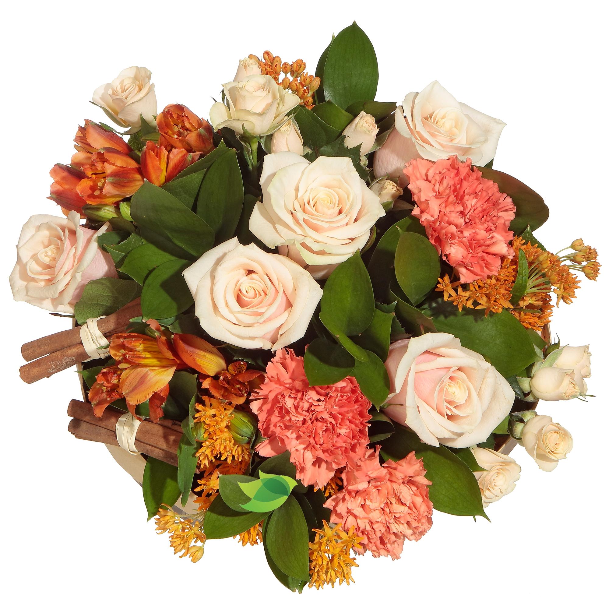 Фото букета: Розы и асклепиас