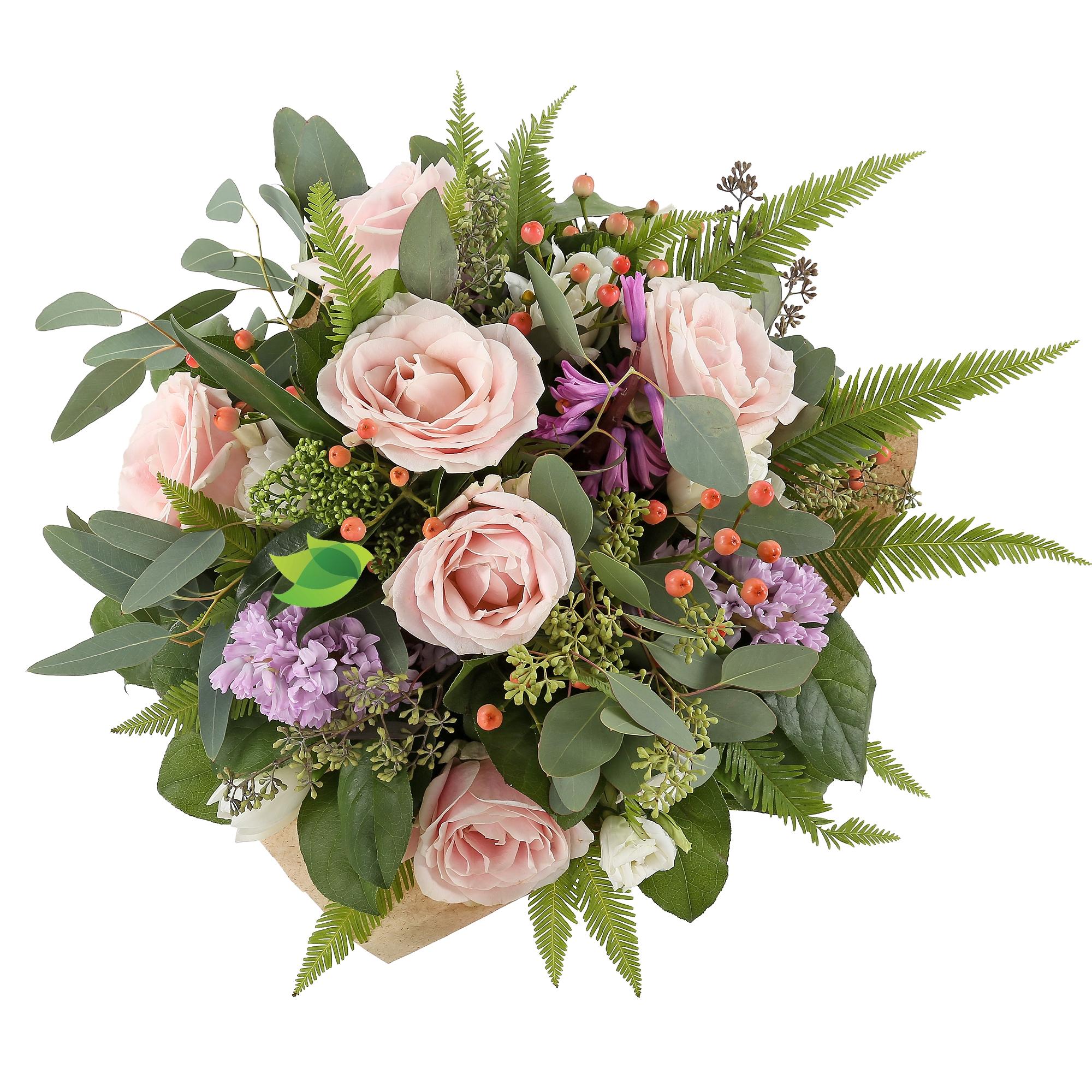 Фото букета: Розы и гиацинты