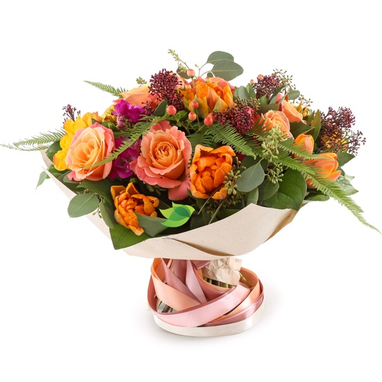 Фото букета: Розы и тюльпаны