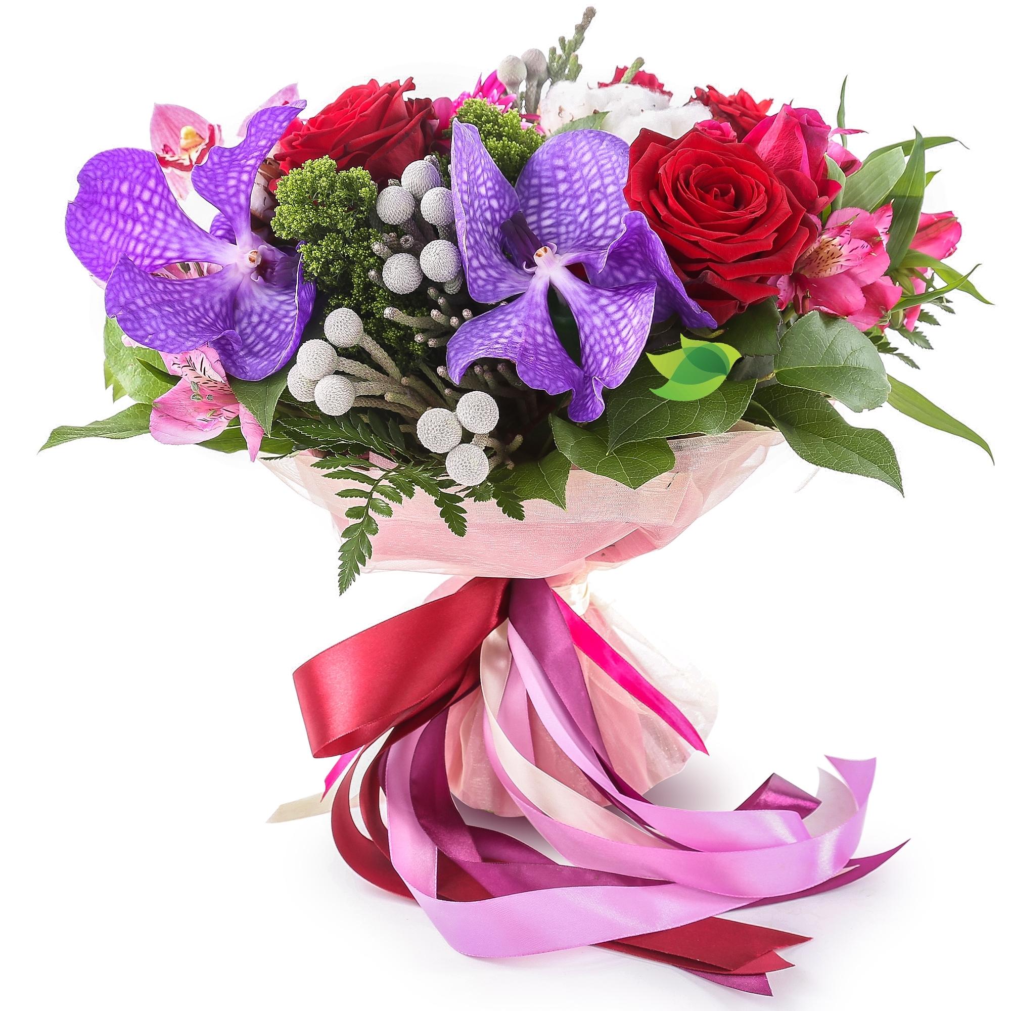 Фото букета: Ванда и розы